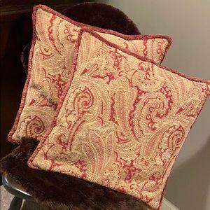 Restoration Hardware paisley print pillows